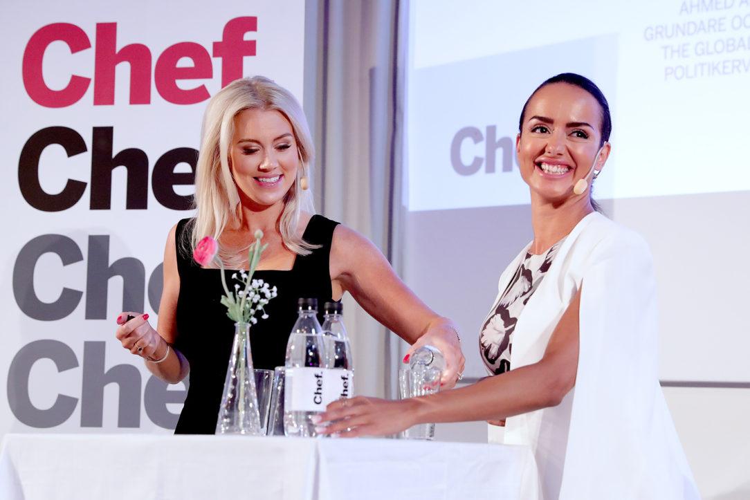 Isabella Löwengrip och Ishtar Touaillat på Chefs scen i Almedalen 2018
